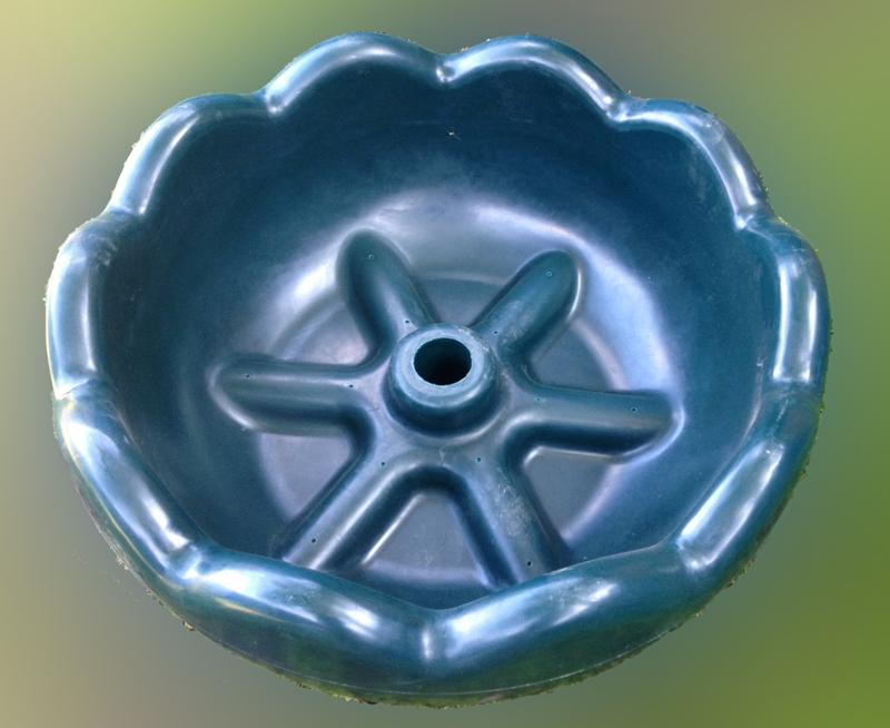 Вазон для цветов, термо-чаша 1100, цвет зеленый