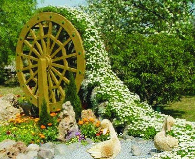 Цветочница Мельничное колесо