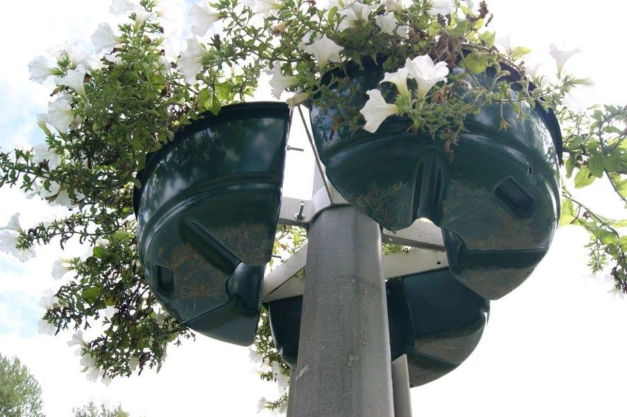 Обруч-3, цветочница для опоры (столба)