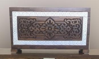 Шкатулка деревянная Мунгэн Дангина