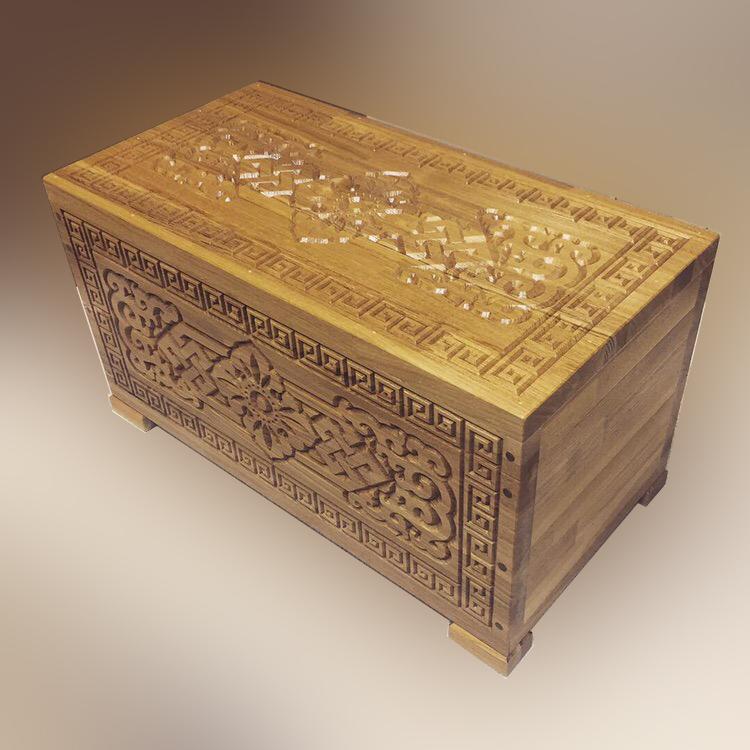 Сундук деревянный Дангина, массив ясеня