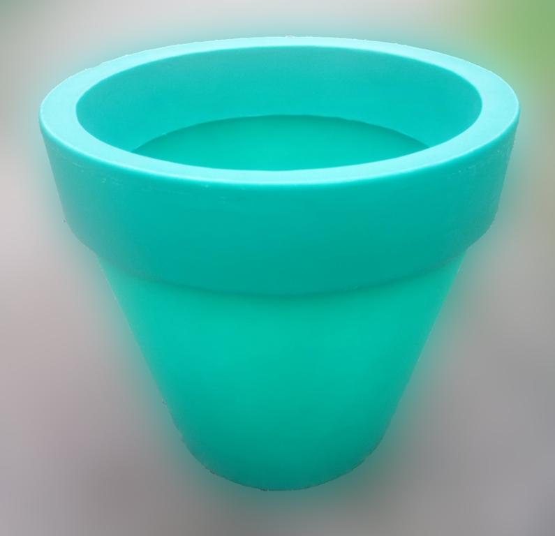 Вазон для цветов, диаметр 70, цвет зеленый
