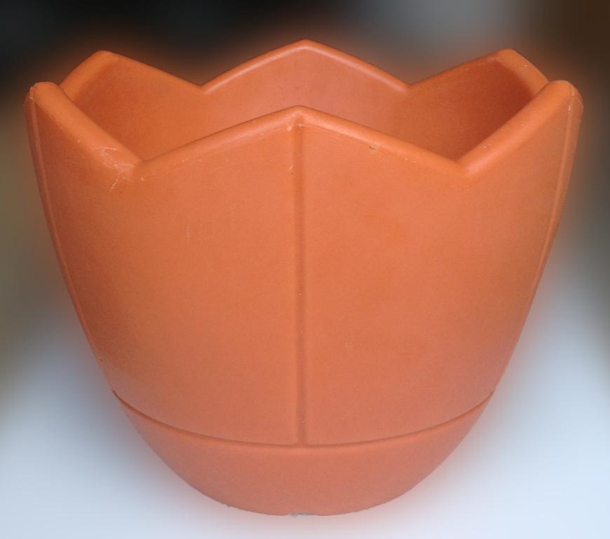 Вазон Квадро Коно, Термо-чаша 400, терракотовый