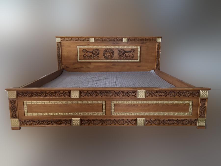 Кровать двухспальная из массива Арсалан 1800х2000