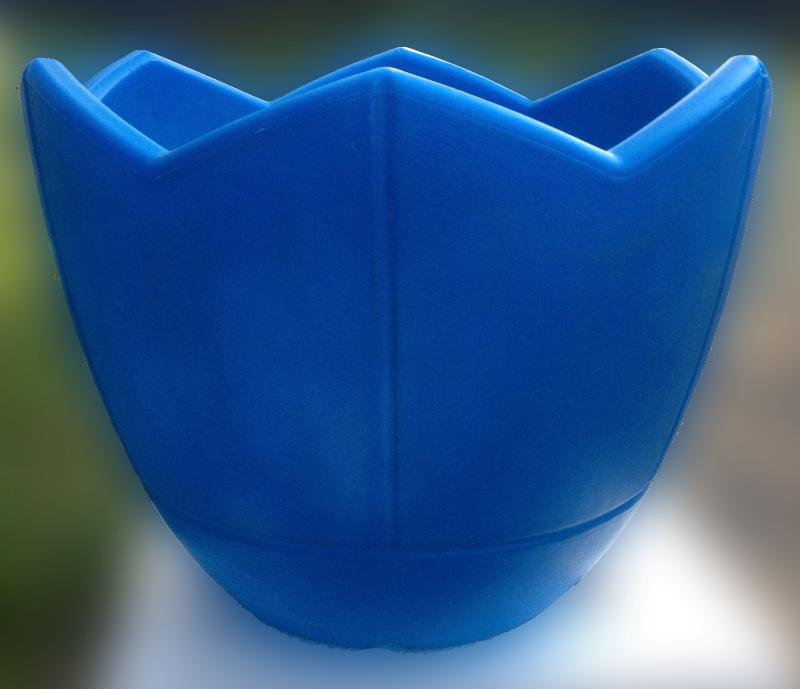 Вазон Квадро Коно, Термо-чаша 400, голубой