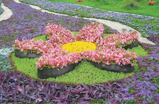 Парковая клумба Цветок
