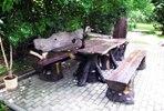 Садовый мебельный набор №1: стол, лавки и стул